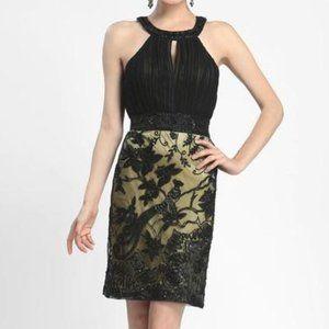 Sue Wong Keyhole Lace Dress